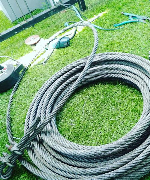 Wire Rope untuk Rail Dumbwaiter Lift Makanan