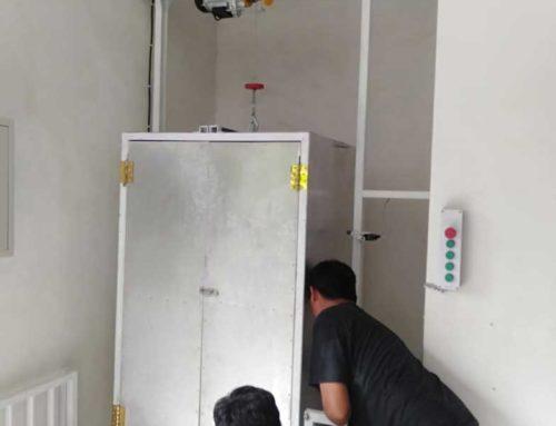 Pembuatan Lift Barang di Aura Organik Tabanan