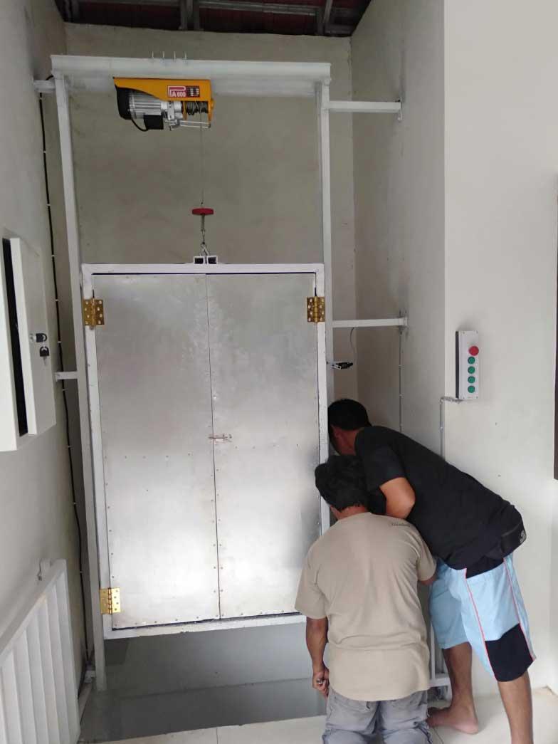 Jasa Pembuatan Lift Barang di Aura Organik Tabanan Bali 2